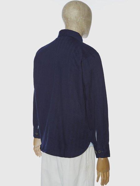 Universal Works Travail Shirt - Herringbone Indigo Denim