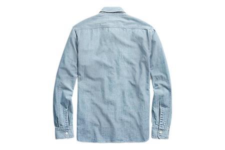 RRL Chambray Medium Wash Workshirt - Indigo