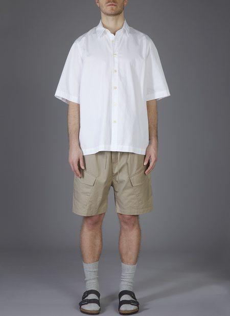 GREI. S/S BOX SHIRT - WHITE