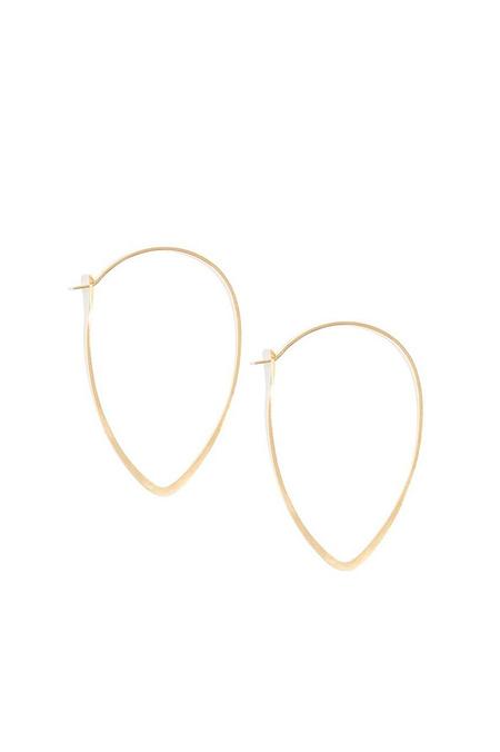 Melissa Joy Manning small leaf hoops - 14k gold