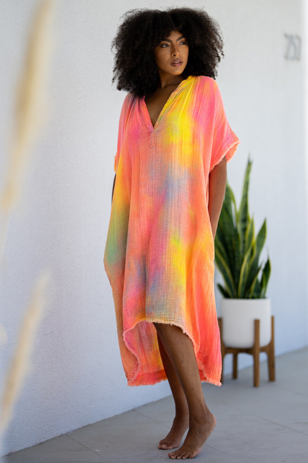 9Seed Tunisia Caftan dress - Tie Dye