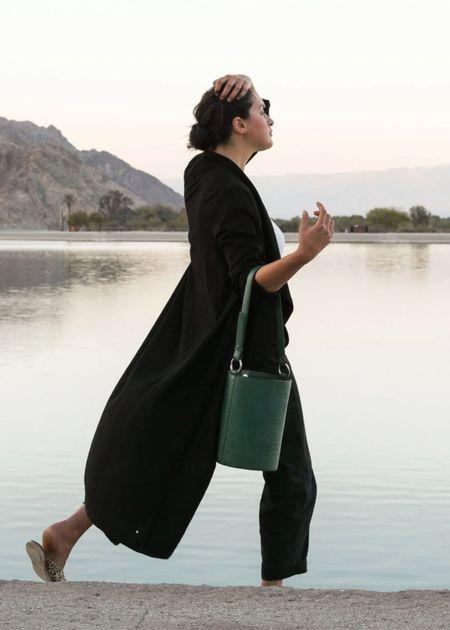 Hyer Goods Bucket bag - green croc