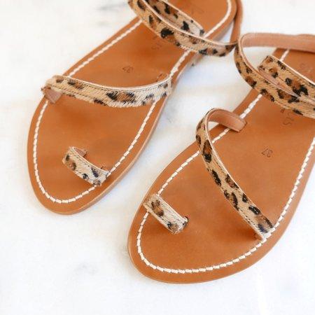K. Jacques Loki Leather Sandals - Leopard Print