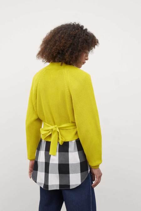 Kowtow Composure Cardigan - Acid Yellow