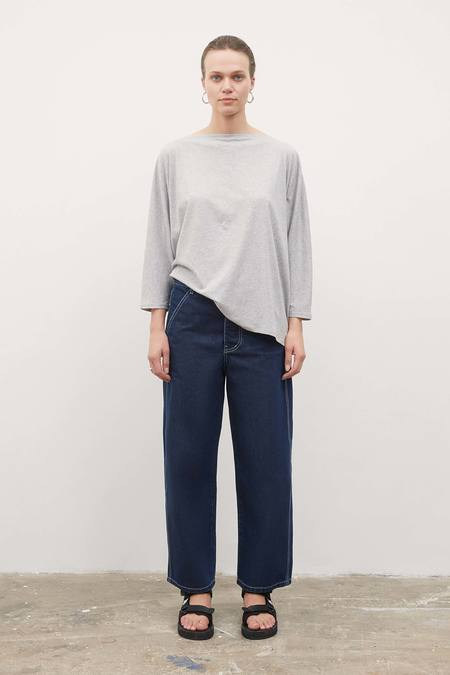Kowtow Relaxed Boat Neck Top - Grey Marle