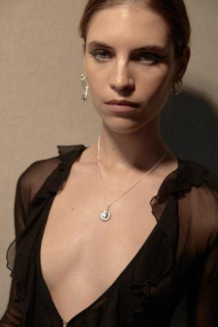 MARS Coin Necklace - Silver