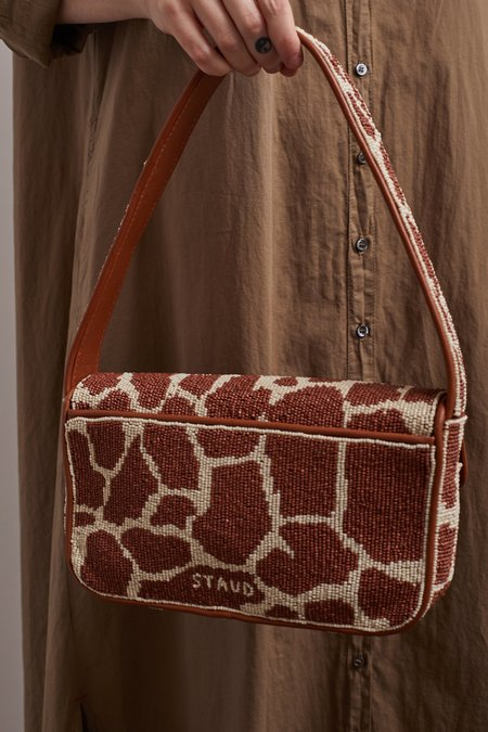 STAUD TOMMY BEADED BAG - Giraffe