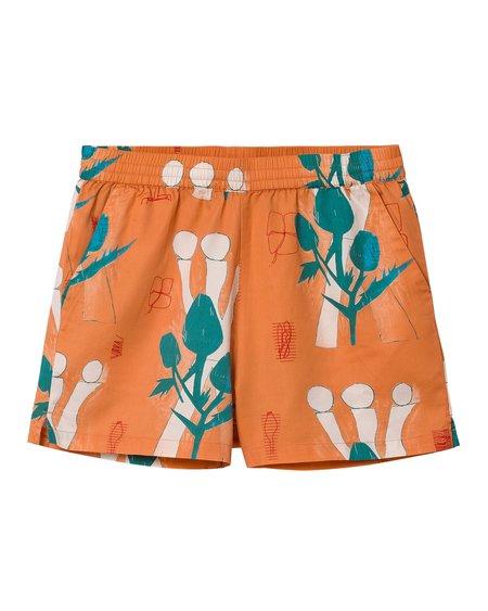 CARHARTT WIP Shorts W Tom Król Flowers - Shrimp