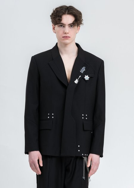 C2H4 Layered Variant Tailored Jacket - Black
