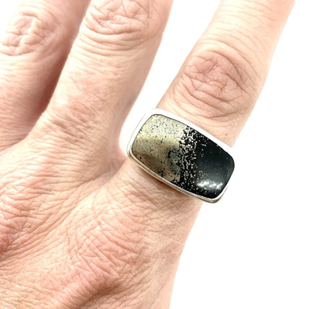 Union Studio Metals Sparkle Apache Gold Ring - Sterling Silver