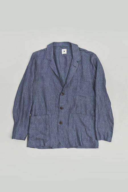 Delikatessen Sporting Shirt - Navy Italian Linen