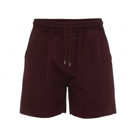 Colorful Standard ORGANIC TWILL SHORTS - OXBLOOD RED