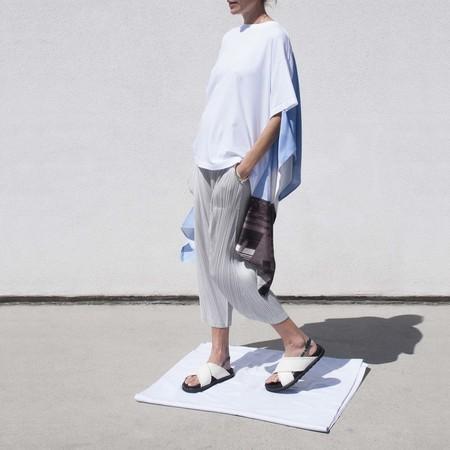 Maison Margiela Printed Scarf T-Shirt - White