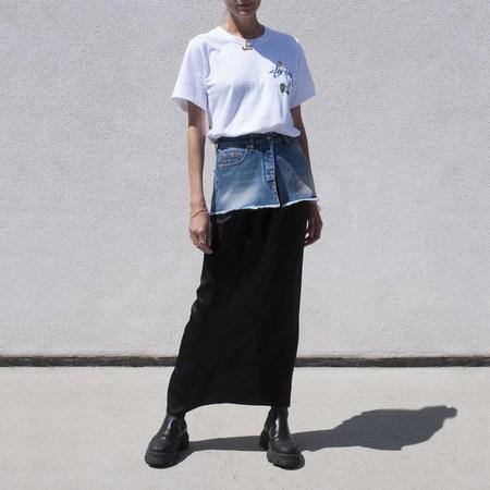 Maison Margiela Spliced Jean Skirt - Blue/Black