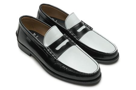 Paraboot Columbia / Cuir Brillant Loafer - Noir/Blanc