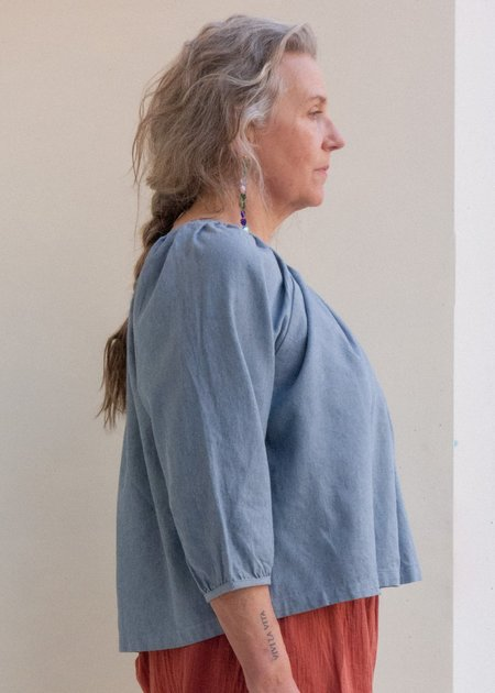 Atelier Delphine Afton Top - Upcycle Chambray