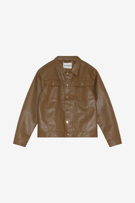 Han Kjøbenhavn Boxy Work Jacket - Brown Vegan Leather