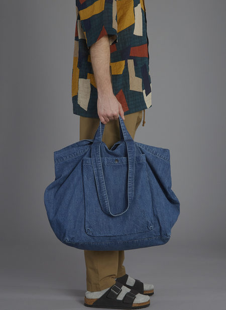 GREI. SLOUCHY TOTE - POOL BLUE WASHED DENIM