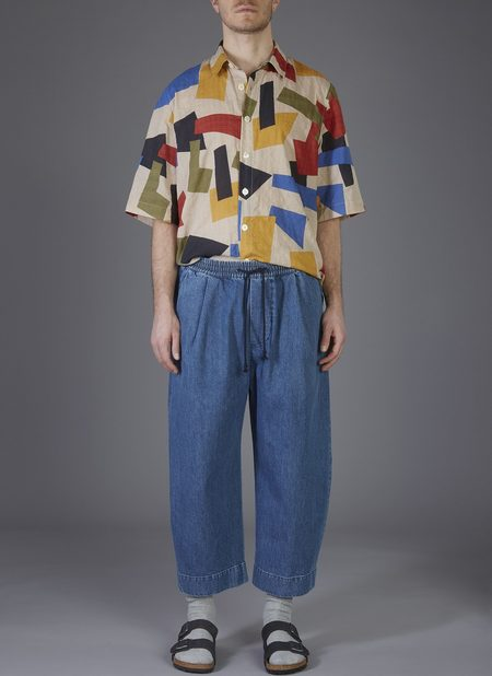 GREI. OVATE BAGGY PANT - POOL BLUE WASHED DENIM