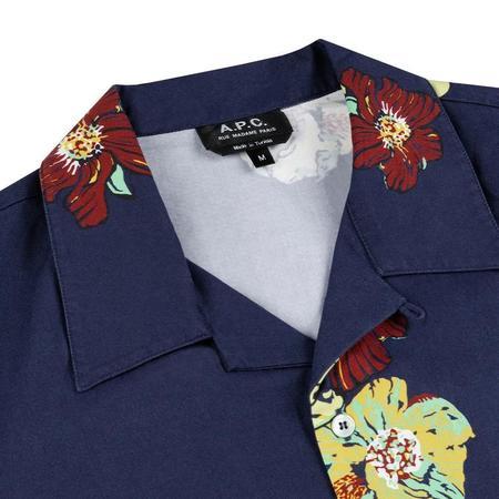 A.P.C. Louis S/S Shirt - Dark Navy Blue