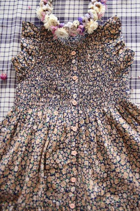 Kids Bonjour Ibiza Dress - Blue Flowers