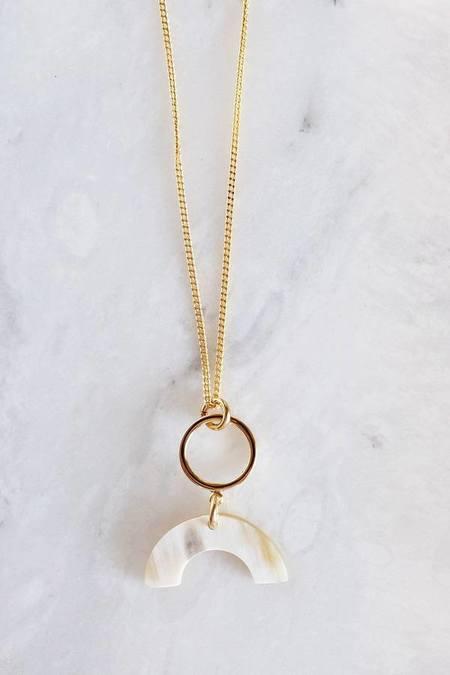 Hathorway Hahn Tinh Geo Necklace - Cream