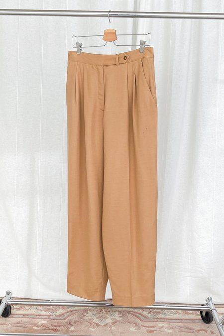 Vintage Pleated Trousers - Camel
