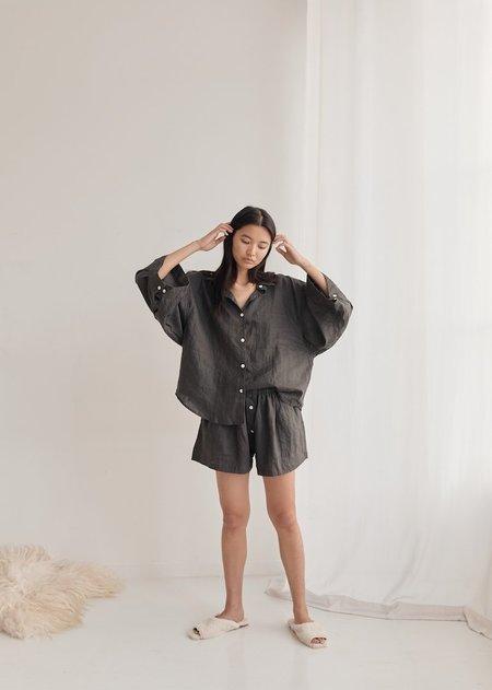 Deiji Studios The 03 Sleepwear Set - Washed Black