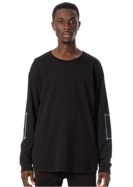 Sandinista MFG Tape Print L/S T-Shirt - Black