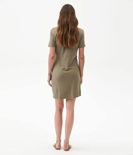 Michael Stars Zooey Side Tie Dress - Olive