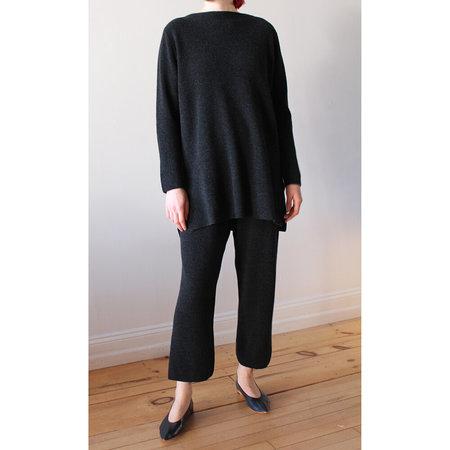 Evam Eva Wool Aze Pants - Charcoal