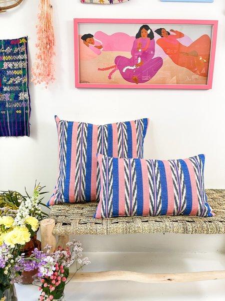 Archive New York Maya Jaspé Pillow - Blue/Coral