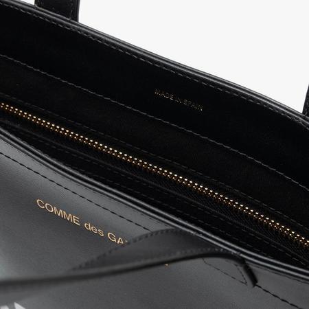 COMME des GARCONS Huge Logo Leather Tote - Black
