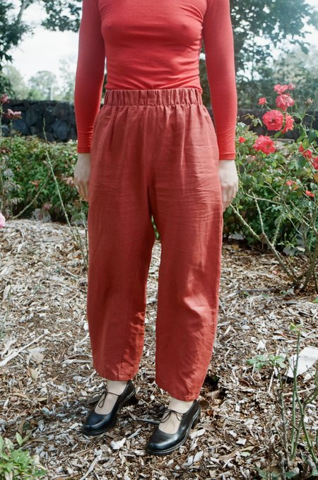 Mimi Holvast Scrunchie Pants -Deep Red