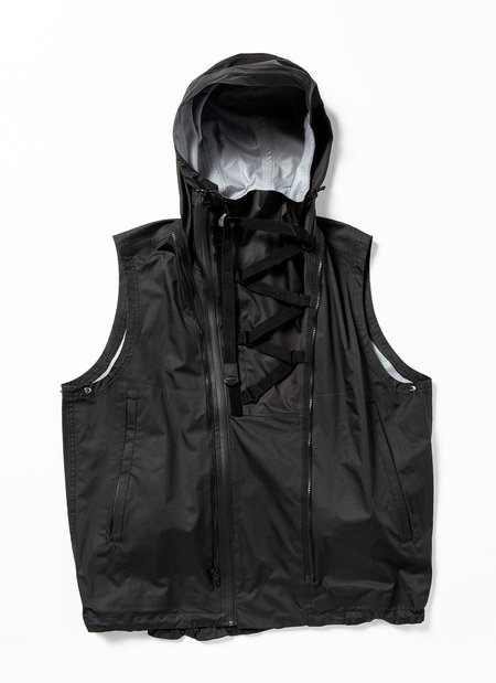meanswhile Air Circulation System Rain jacket - Off Black