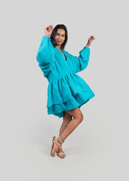 m e ç l â The Posey Dress - Turquoise