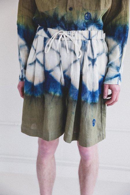 STORY mfg. Bridge Shorts - Forest Clamp Dye