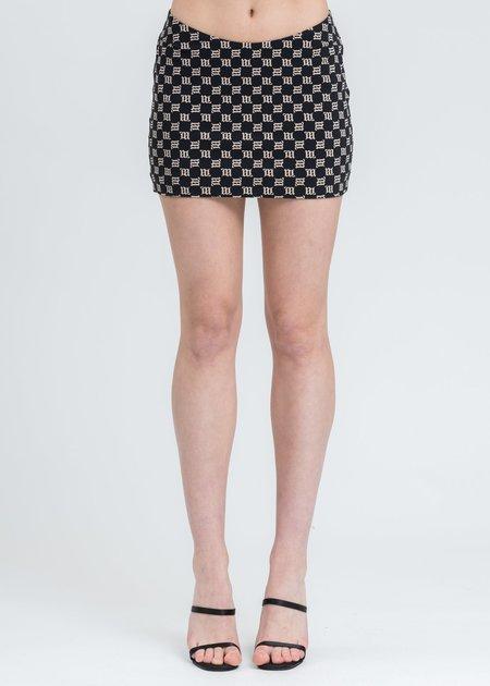 MISBHV Monogram Trinity Mini Skirt - black