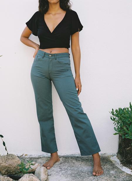 Aniela Parys Samba Canvas Trousers - green