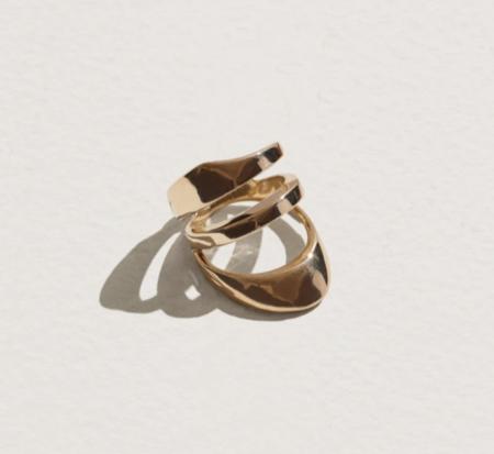 Pamela Love Large Agnes Ring - brass