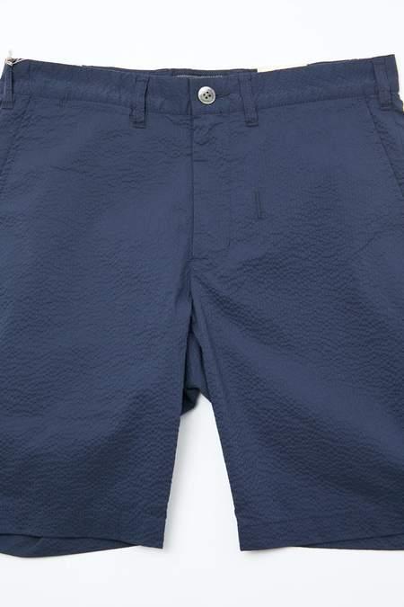 Beams Plus Ivy Coolmax Seersucker Shorts - Navy
