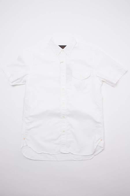 Beams Plus Short Sleeve B.D. Oxford Shirt - White