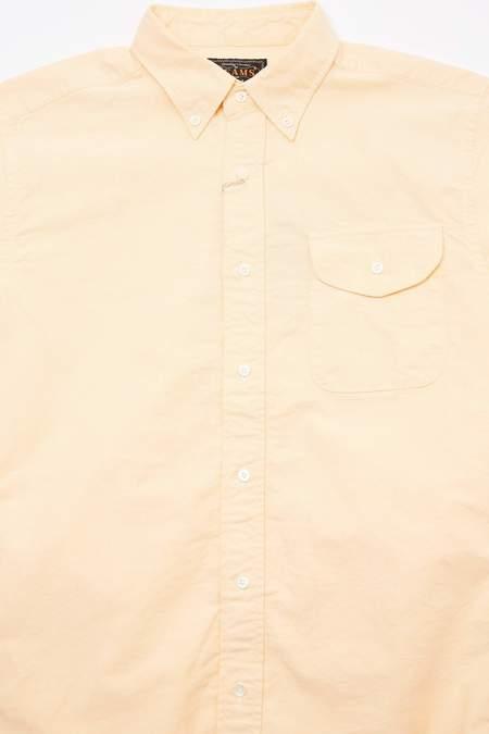 Beams Plus Short Sleeve B.D. Oxford Shirt - Yellow