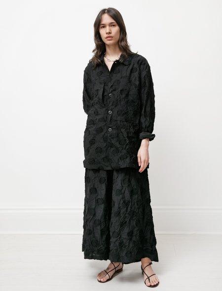 Y's by Yohji Yamamoto Dot Jacquard Jacket - Black