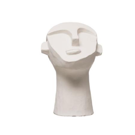 Bloomingville Ceramic Head Sculpture - White