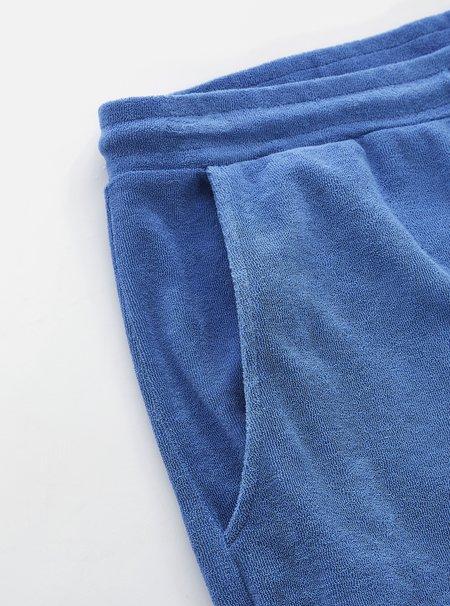Universal Works Terry Fleece Short - Blue