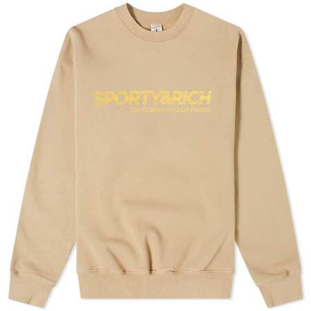 Sporty & Rich Science Crewneck sweater - Nutmeg
