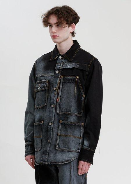Feng Chen Wang Levi's Edition Denim Oversized Shirt - Blue/Black