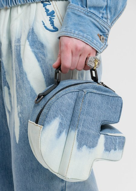 Feng Chen Wang F Bag - Blue Washed Denim