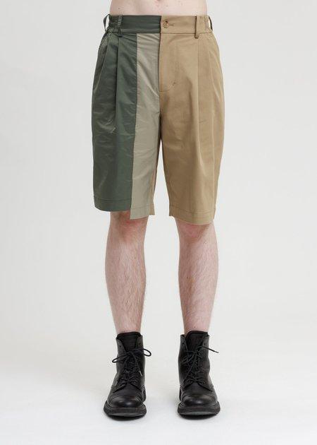 Feng Chen Wang Woven Paneled Shorts - Khaki